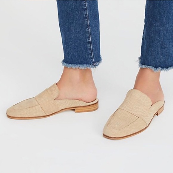 508bdb9bc08 Free People Shoes - Free People At Ease Loafer Mules Beige Size 37